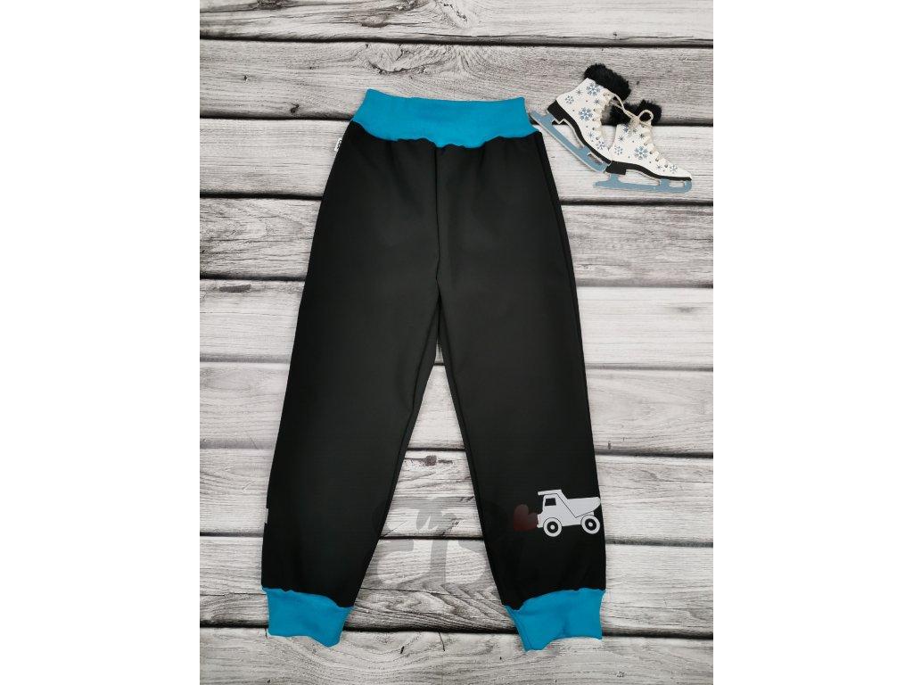 Zimní softshellové kalhoty - černé, náklaďák