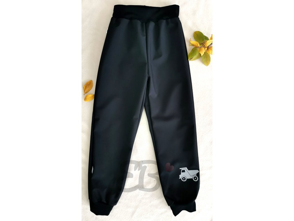 Softshellové kalhoty - černé, náklaďák
