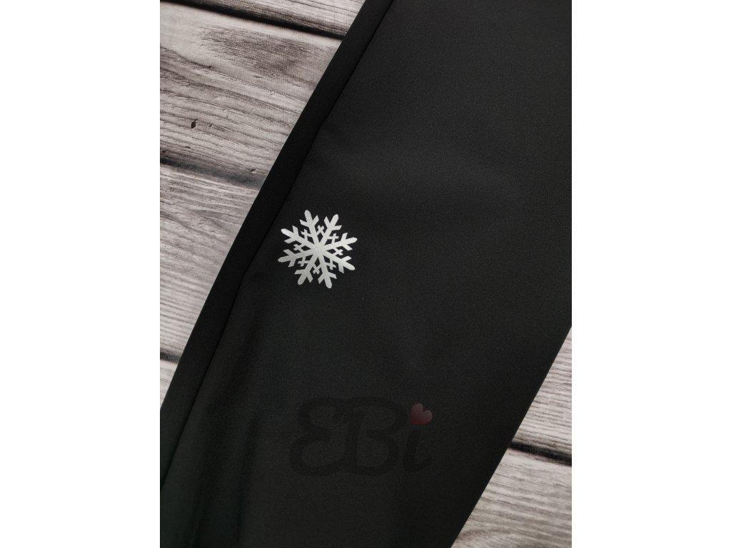 Zimní softshellové kalhoty - vločka