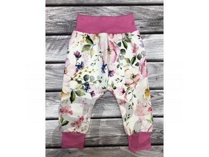 Mimi rostoucí kalhoty - flowers