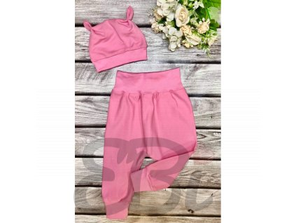 Rostoucí baggy kalhoty - růžová pastel