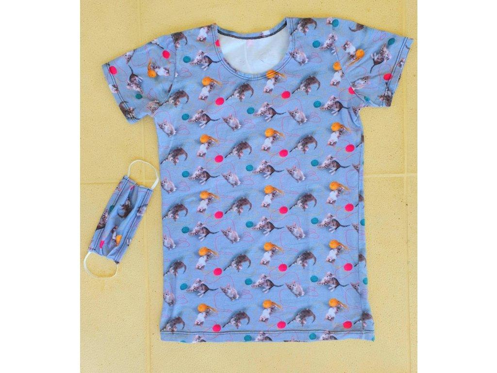 Dětské triko kočičky