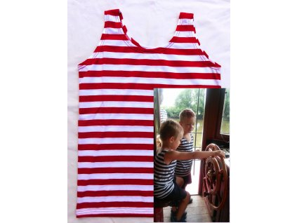 Dětské tílko námořník a červené