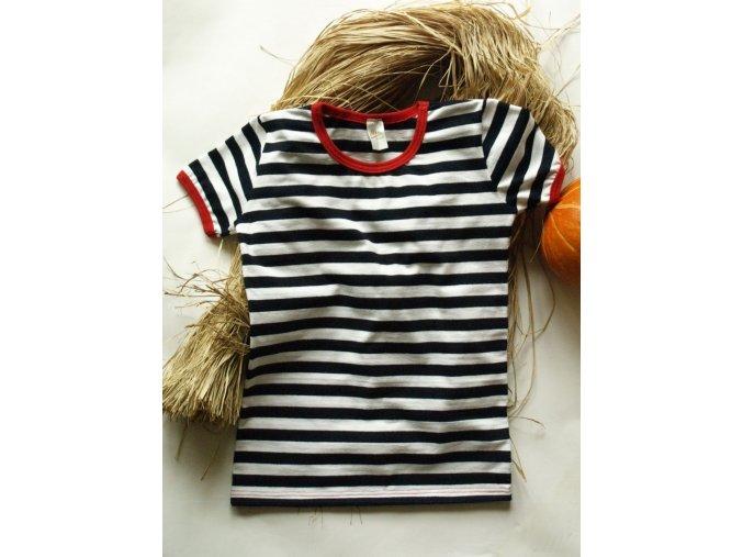 Dětské tričko s červeným lemem