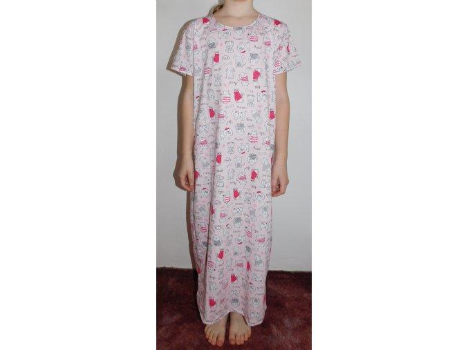 Dětská noční košile růžová