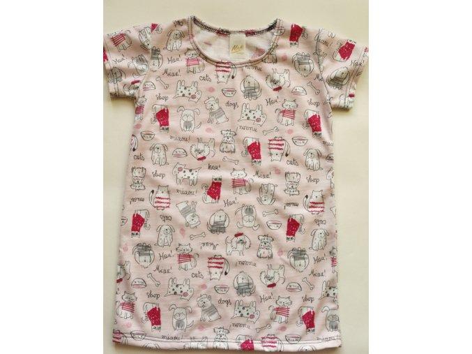 Dětské triko pejskové a kočičky