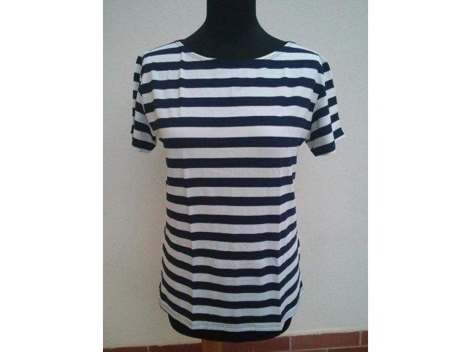 Dámské námořnické triko ELASTAN kr. rukáv