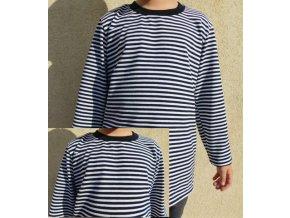 Dětské pruhované triko dlouhý rukáv