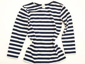 Dámské triko námořnické dlouhý rukáv BAVLNA
