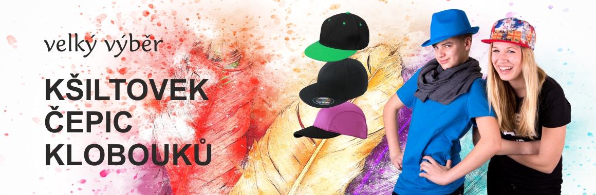 Kšiltovky, čepice, klobouky, šály, rukavice