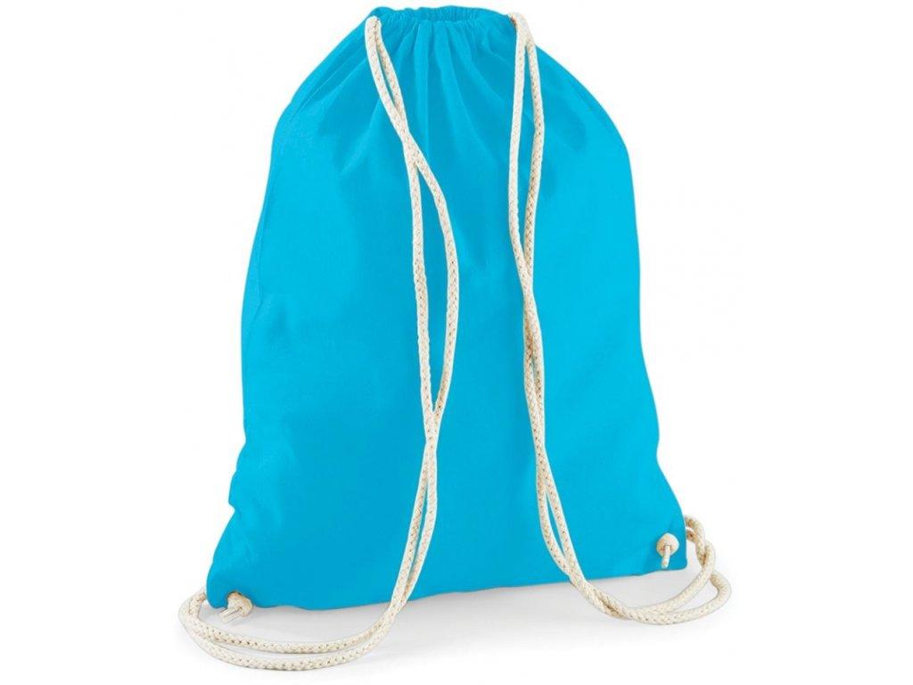 Bavlněný batoh, gymsack surf modrá