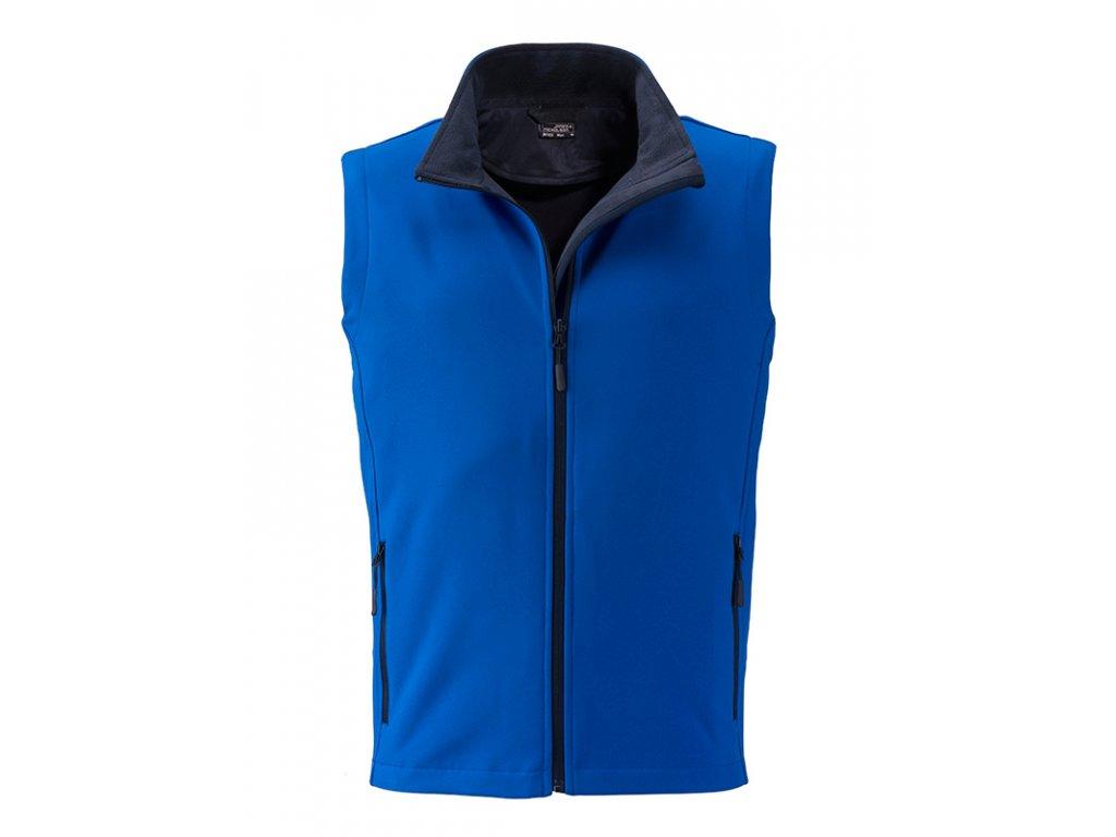 Pánská 2 vrstvá softshell vesta modrá