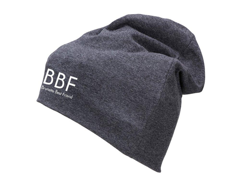 Čepice BBF brunette best friend šedý melír