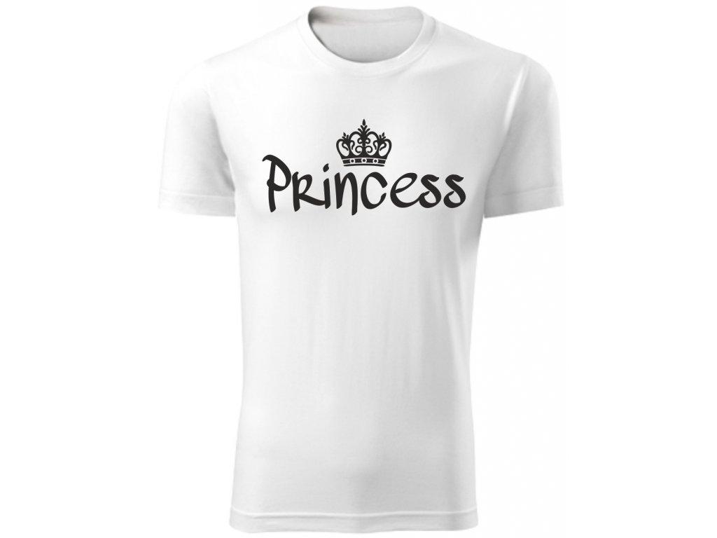 Dětské tričko PRINCESS bílá 02b1e719b6