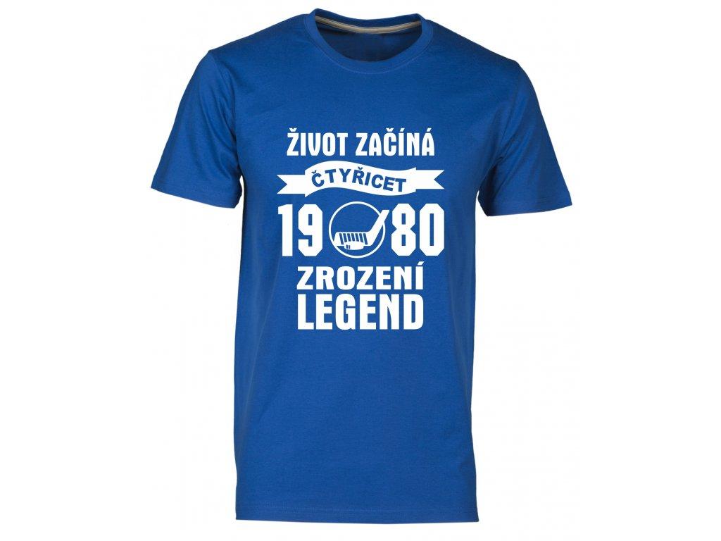 Tričko k 40 narozeninám s potiskem Život Začíná - čtyřicet 1978 - Zrození Legend hokej atol