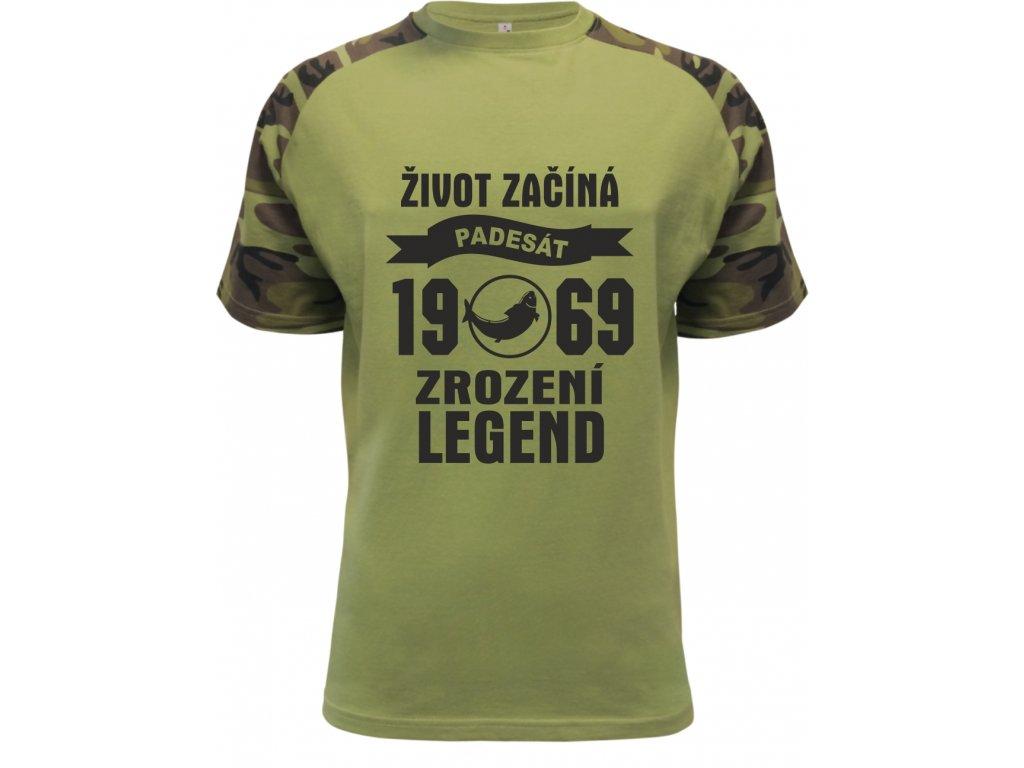 3957f9b04ee Pánské tričko ZROZENÍ LEGEND 50 let rybář