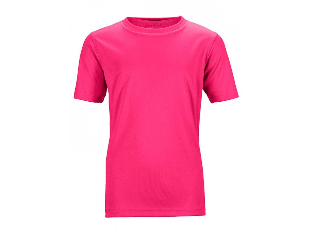 Dětské funkční tričko pro volný čas a sport růžová