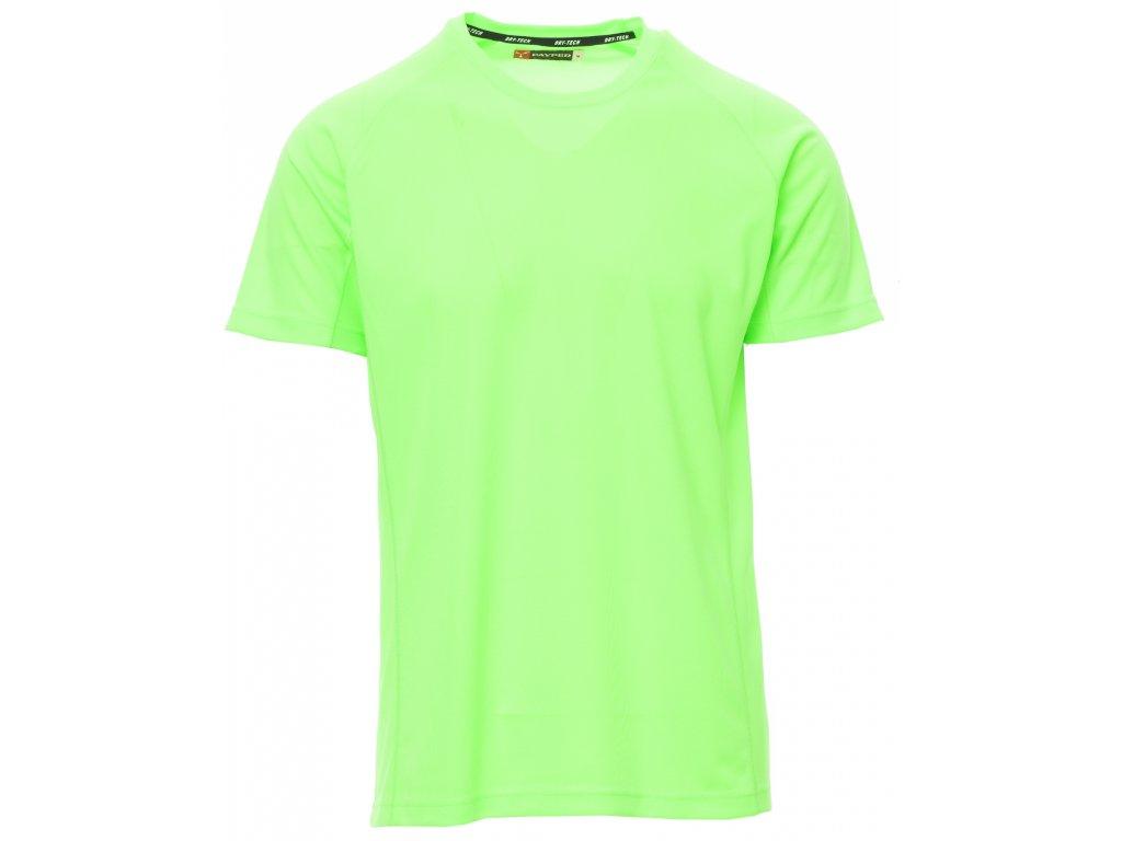 ... Dětské funkční sportovní tričko s raglánovými rukávy flluo zelená aa5500941e