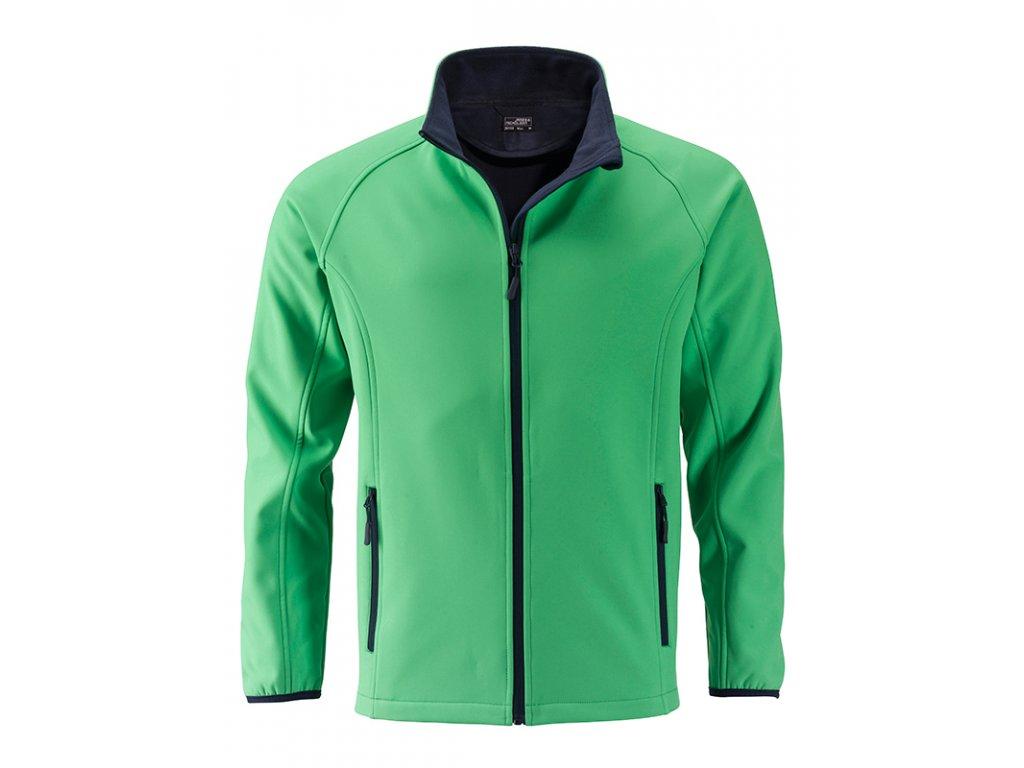 Měkká pánská softshellová bunda. jn1130 zelena