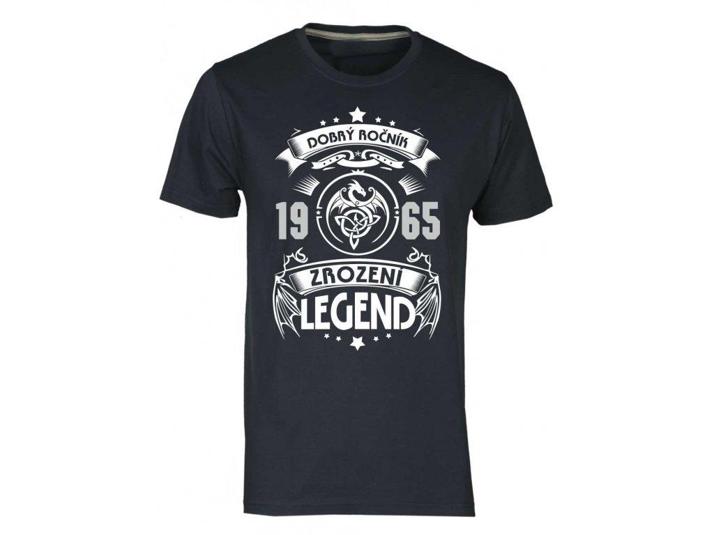 Pánské tričko s potiskem Dobrý Ročník- Zrození LEGEND - Dragon navy