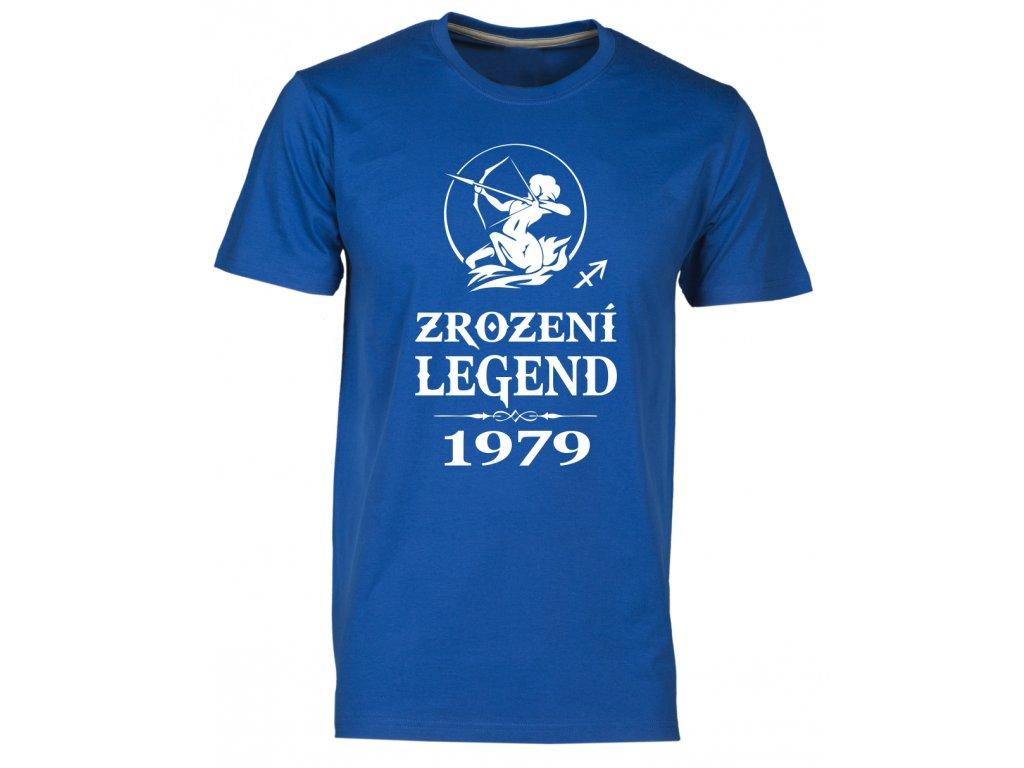 Pánské tričko s potiskem ZROZENÍ LEGEND se znamením STŘELEC royal