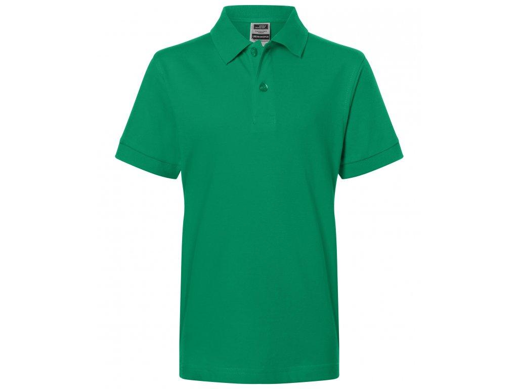 Dětská polokošile s krátkým rukávem irská zelená