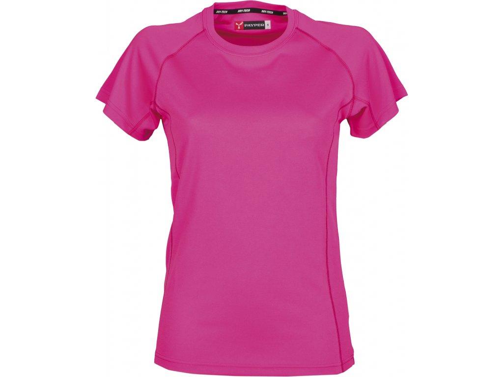 Dámské funkční sportovní tričko s raglánovými rukávy flou růžová