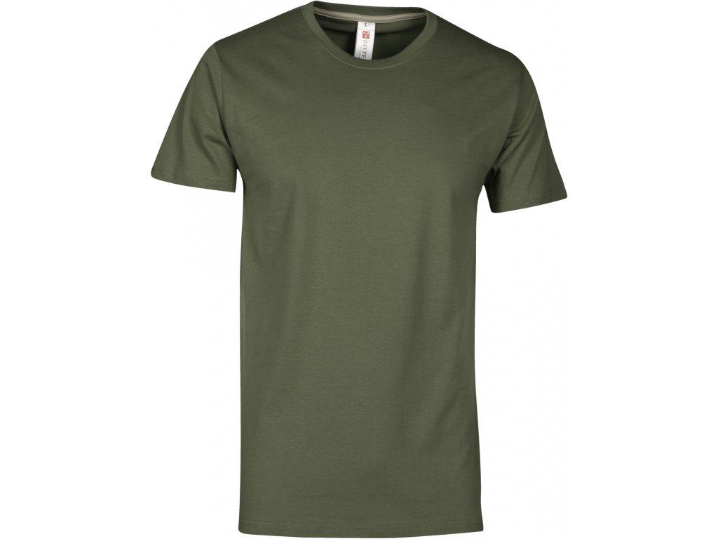 Pánské tričko Sunset zelená military