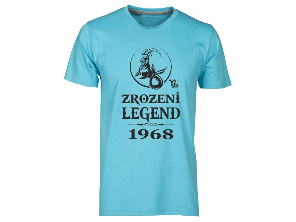 Pánské tričko s potiskem ZROZENÍ LEGEND se znamením KOZOROHA atol
