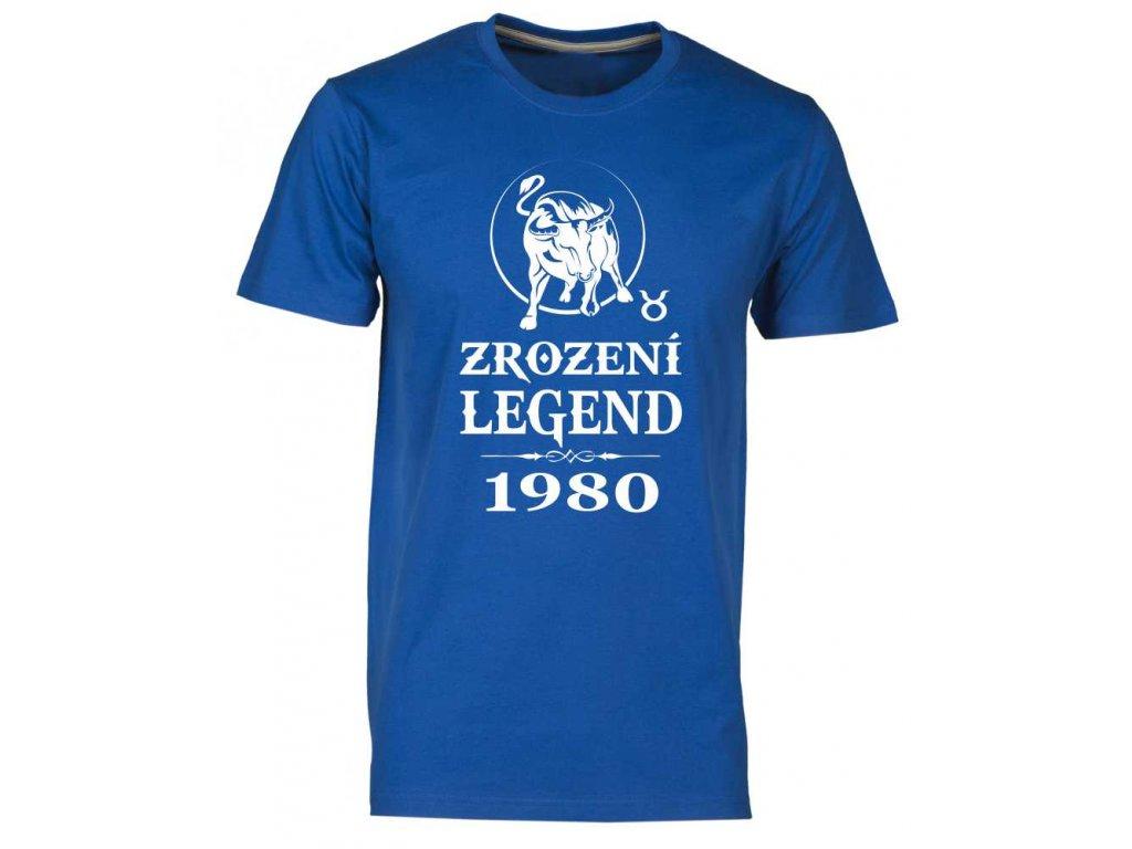 Pánské tričko s potiskem ZROZENÍ LEGEND se znamením zvěrokruhu Býka royal
