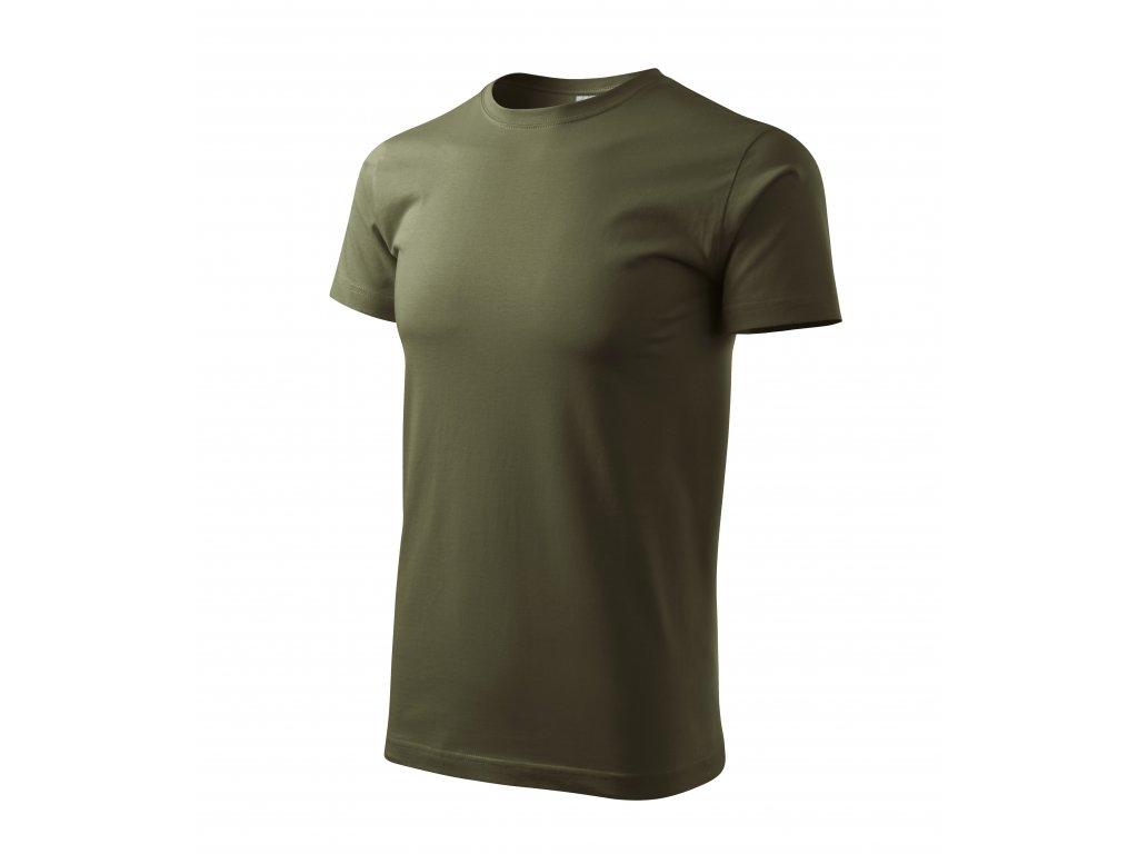 Klasické pánské tričko Basic zelená military