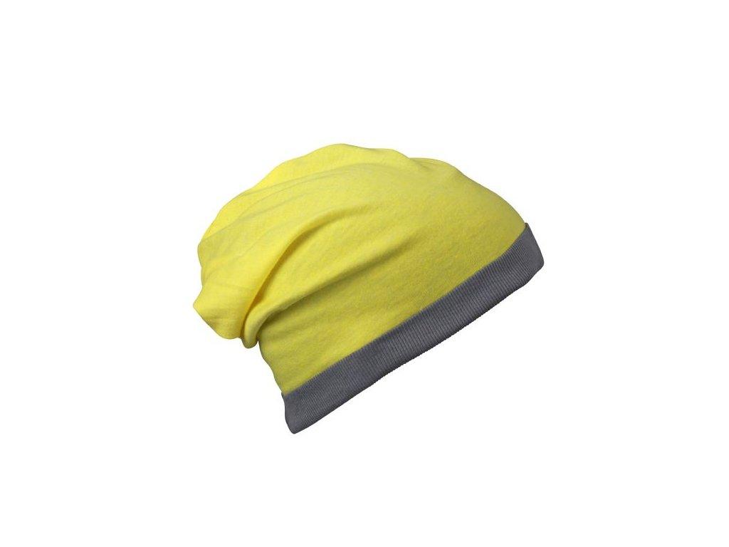lehká jarně letní čepice žlutá