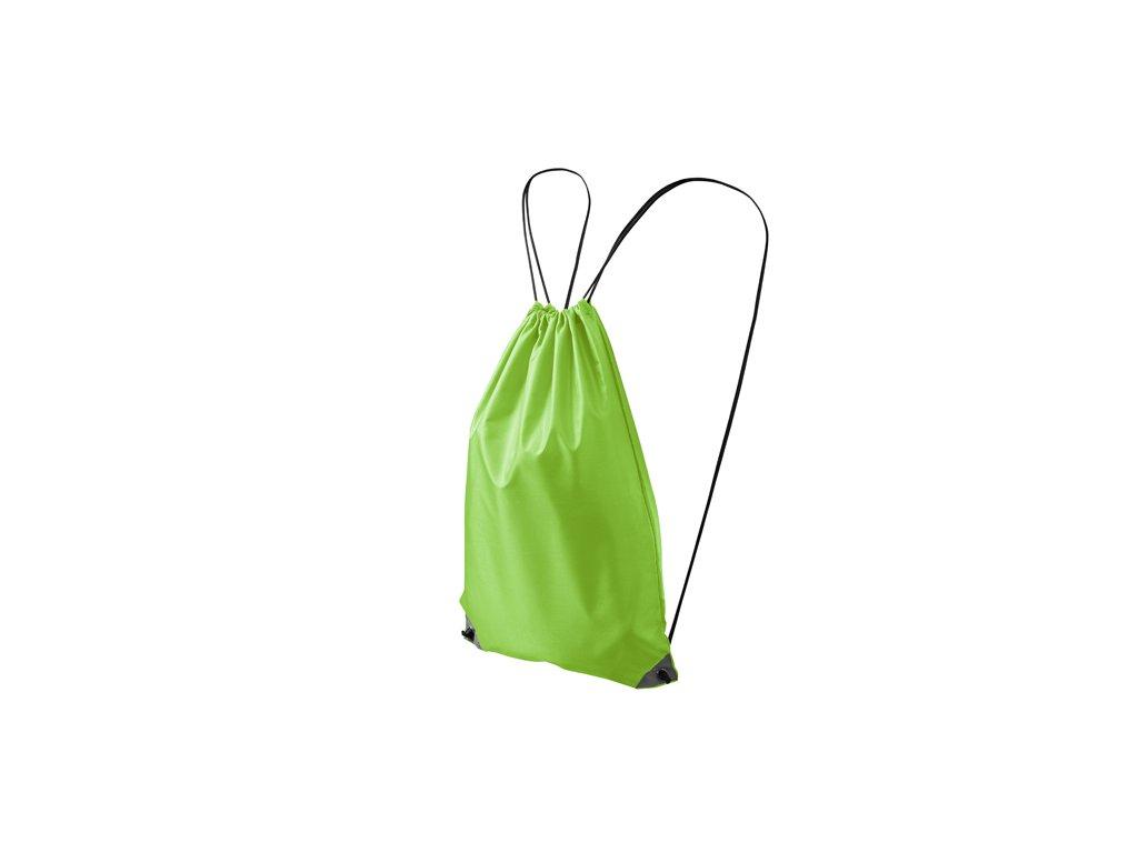 Lehký polyesterový batoh s reflexními prvky v rozích jablíčková