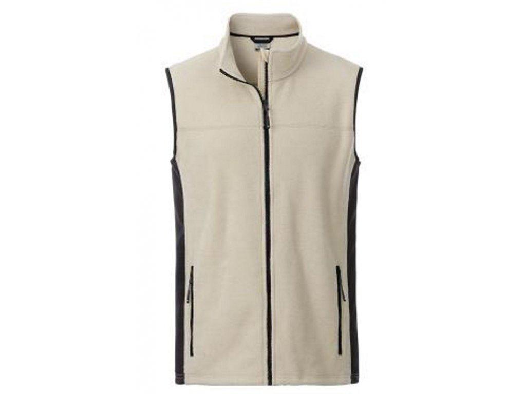 Pánská pracovní fleecová vesta v mixu materiálů stone do 6XL