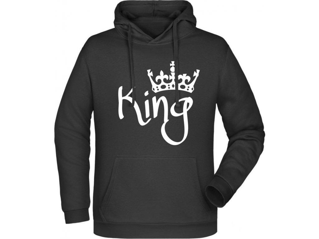 Pánská mikina s kapucí King černá