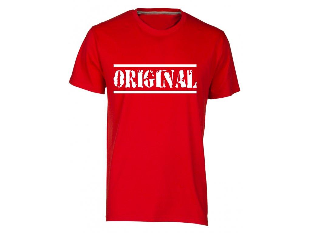 Pánské tričko Originál červená