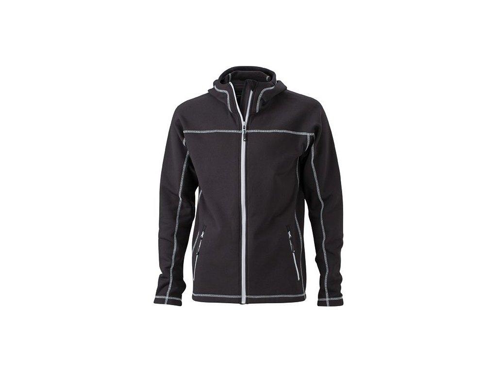 Pánská bunda Strecthfleece Jacket (Barva Červená - carbon, Velikost oděvů XXL)