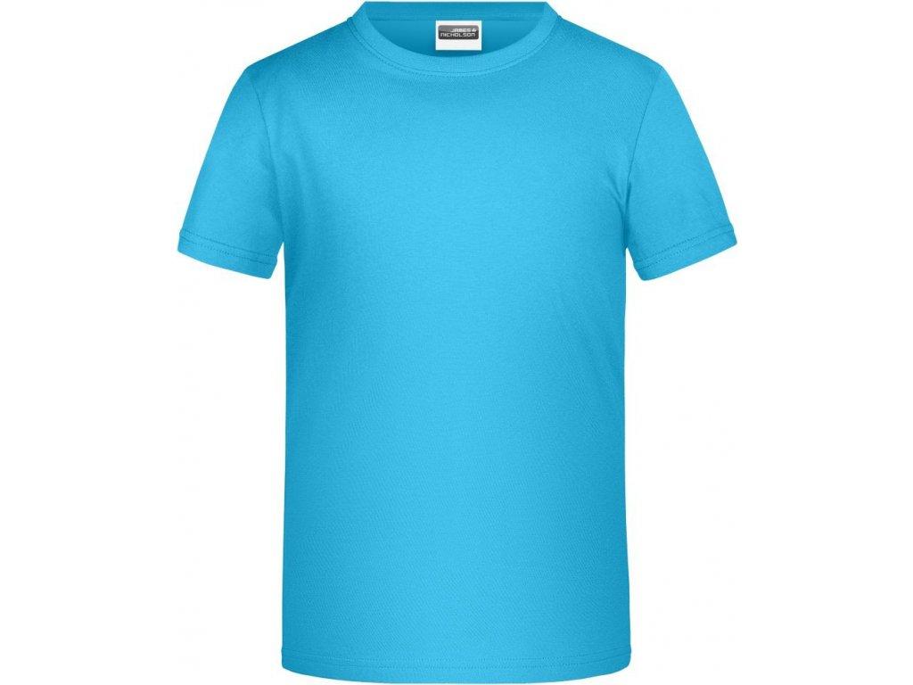Dětské tričko pro chlapce od velikosti 98 tyrkysová