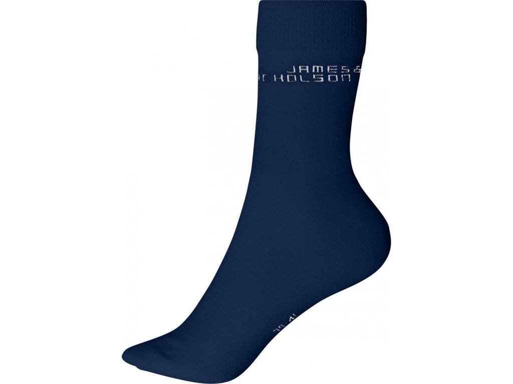 Klasické ponožky z Bio bavlny modrá
