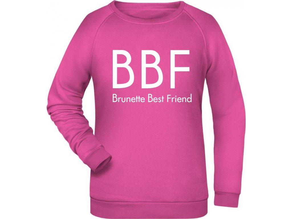 mikina BBF Brunette ruzova