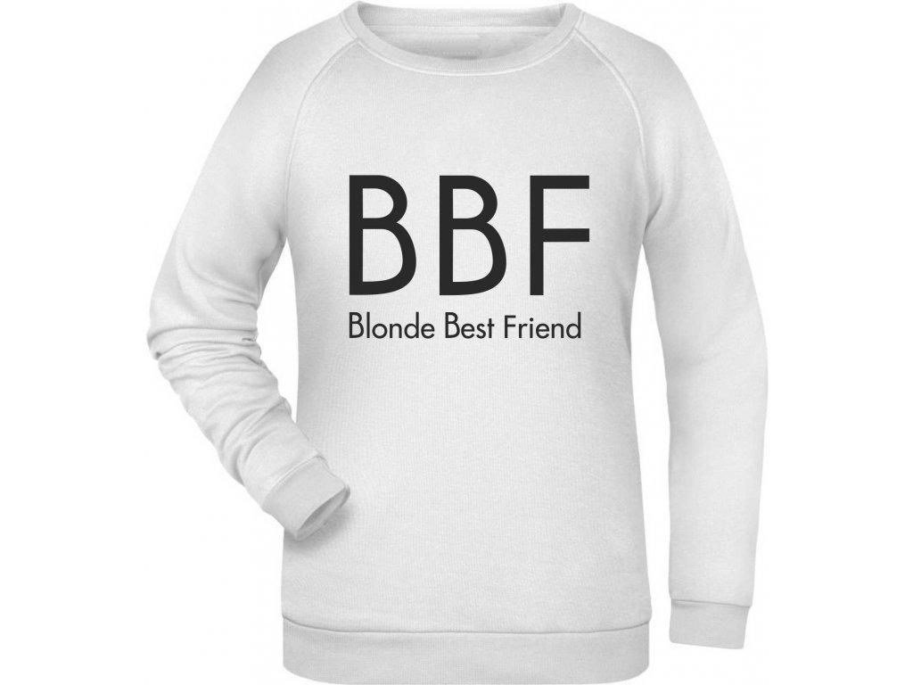 mikina BBF Blonde bila