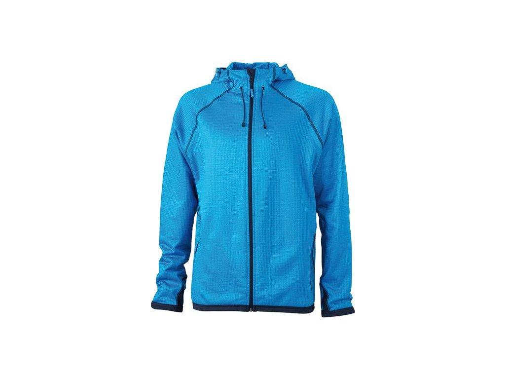 Pánská bunda Hooded Fleece (Barva Žlutá - carbon, Velikost oděvů XXL)
