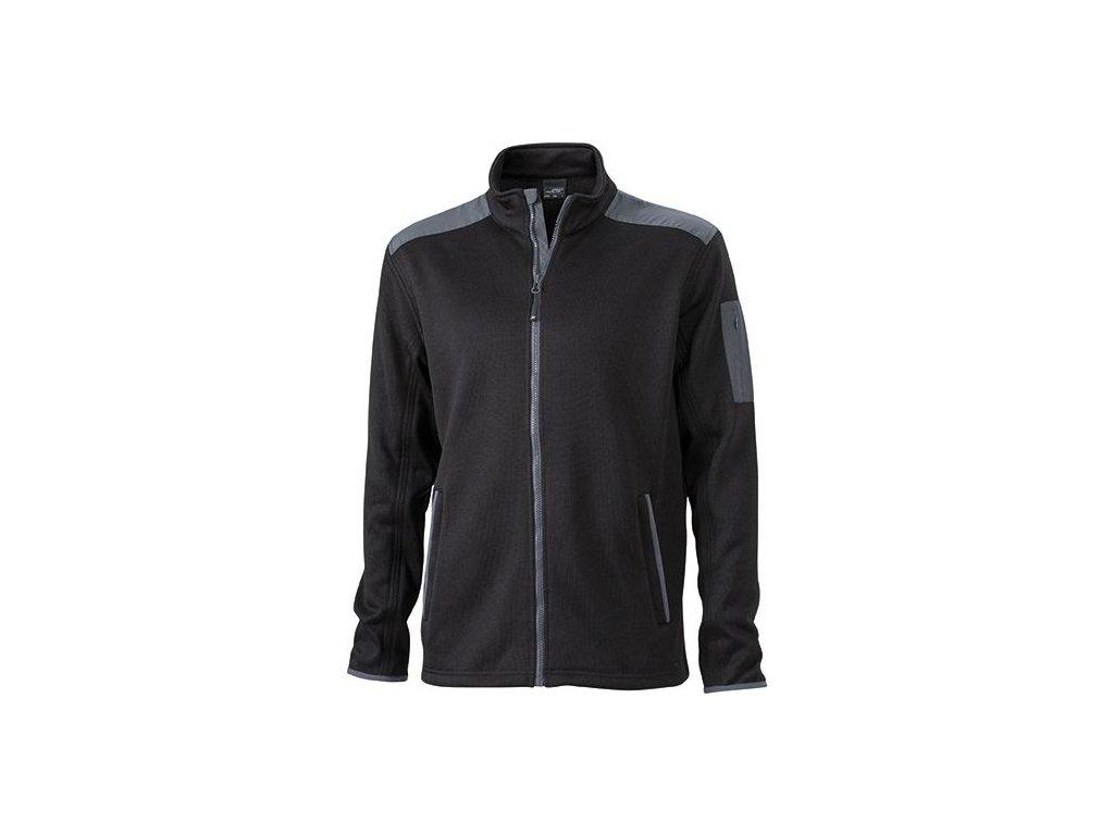Pánská bunda Knitted Fleece Jacket (Barva Modrá námořní - Modrá námořní, Velikost oděvů XXL)