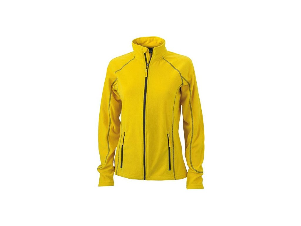 Dámská lehká outdoorová fleecová bunda žlutá
