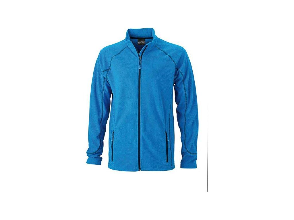 Pánská lehká outdoorová fleecová bunda modrá azur