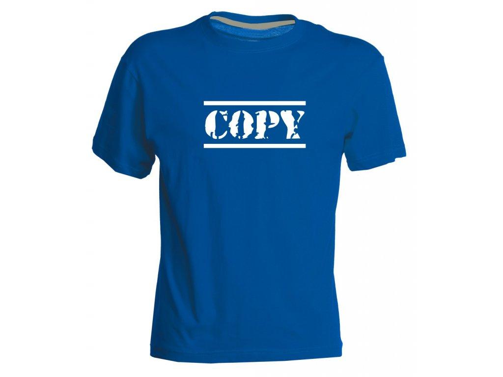 Dětské tričko Copy může tvořit pár k tričku Originál modrá královská