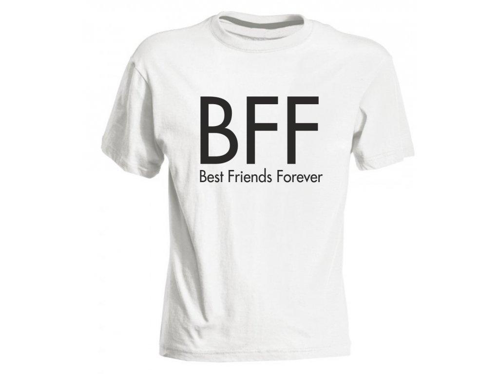 dětské tričko BFF bílá