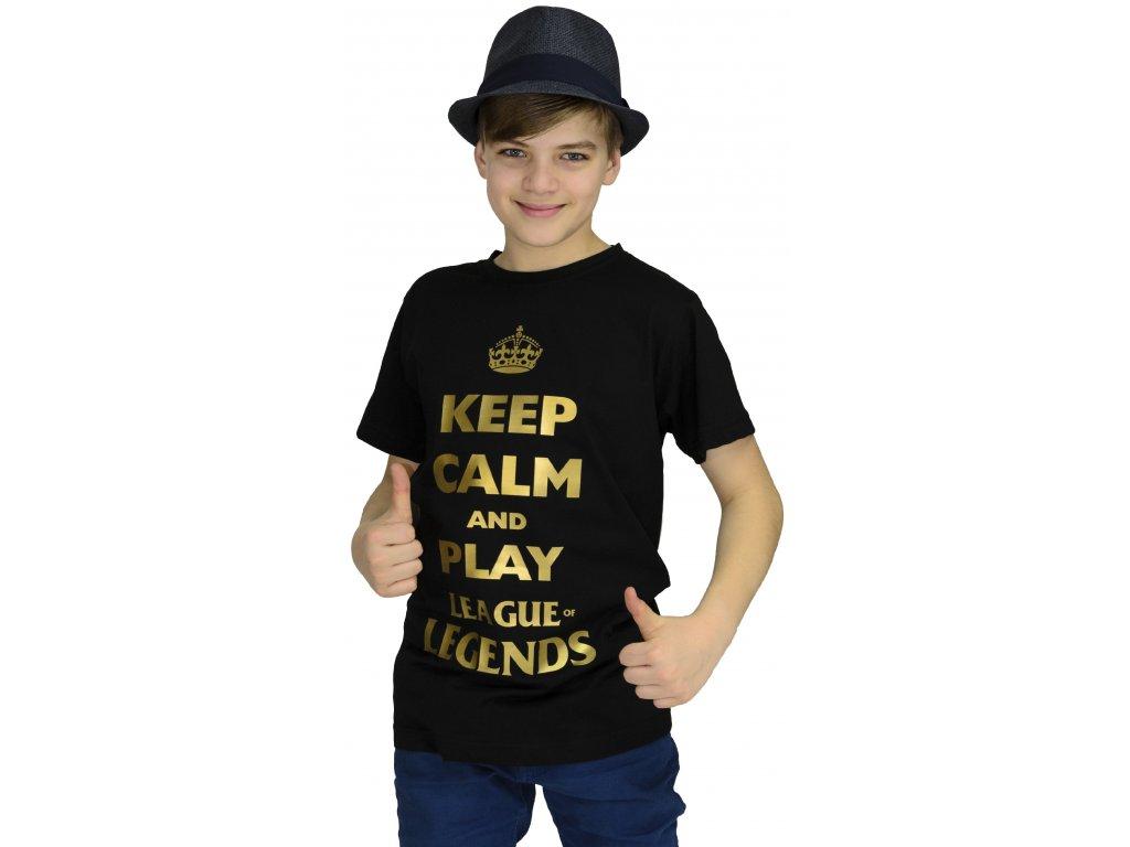 Tričko KEEP CALM and play League of Legends