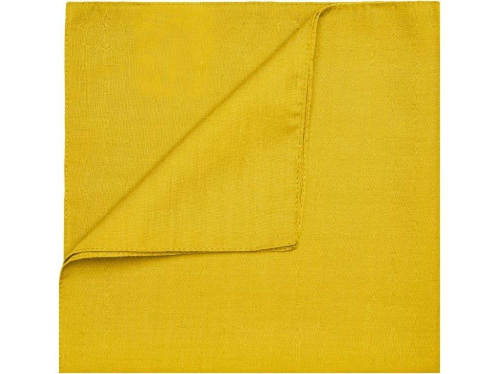 Multifunkční šátek 50x50cm žlutá zlatavá