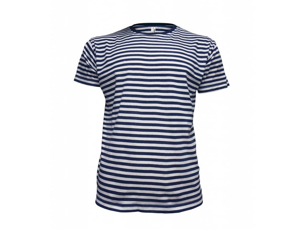Dětské pruhované námořnické tričko modrá